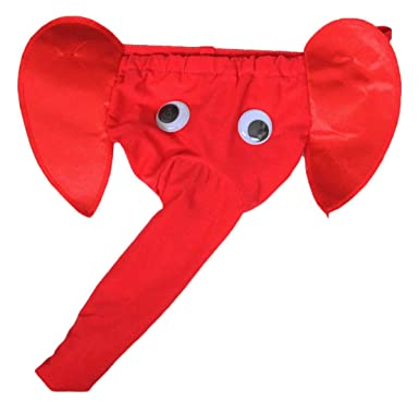 mens fun and sexy red black elephant thong underwear perfect valentine gift red