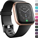 Ouwegaga Band Compatible for Fitbit Versa/Versa 2/Versa Lite/Special Edition Versa 2 All Versions Classic Wristbands for…