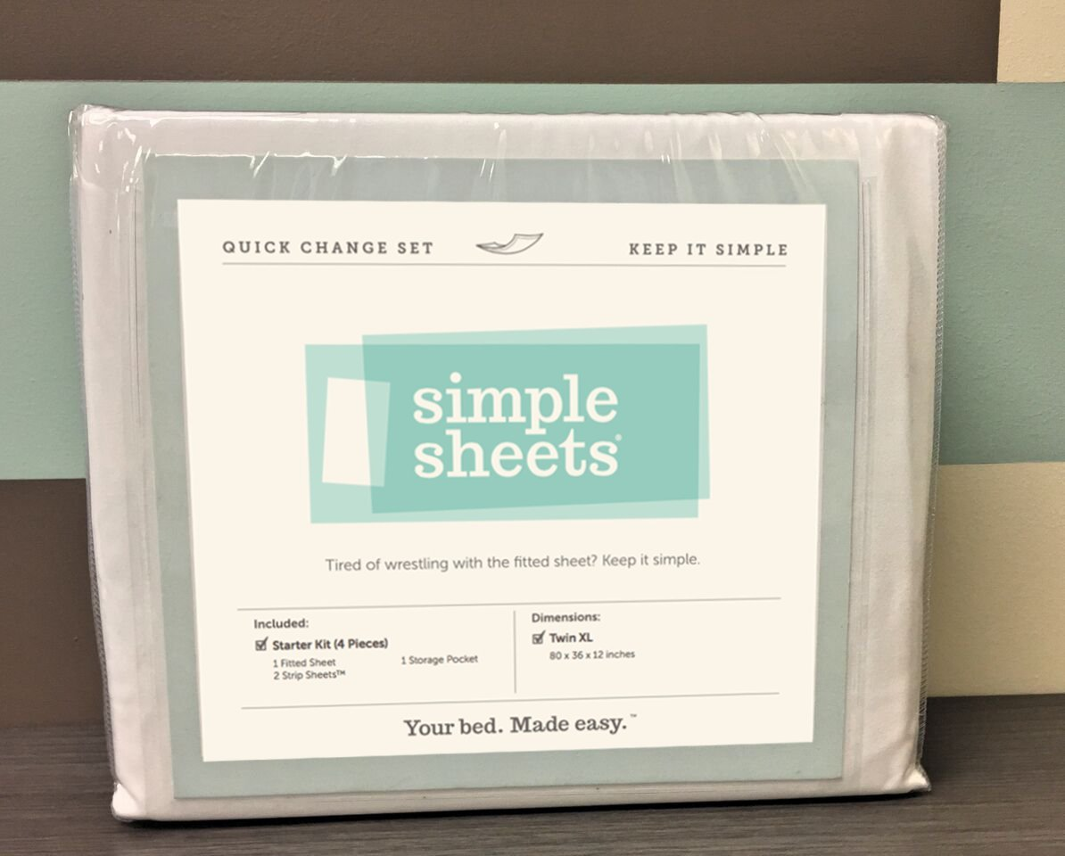 Quick Change Bed Sheets for Hospital and Dorms (4 Piece - Starter Kit)