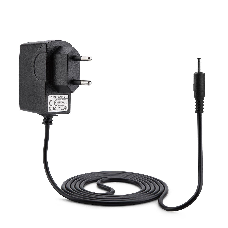 Aukru Caricabatterie Alimentatore 6V 1000mAh Adattatore Per Babyphone Philips AVENT SCD505/00 Baby Monitor ECO DECT(Nero)