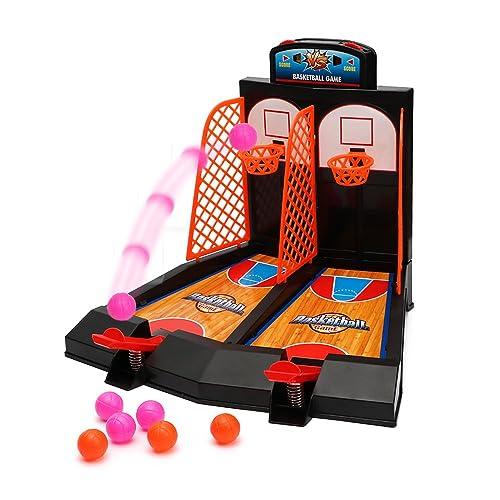 Table Basketball Mini jeu 2 joueurs Shootout Hoops Basketball jeu avec marqué périphérique pour les enfants de Wishtime de tir