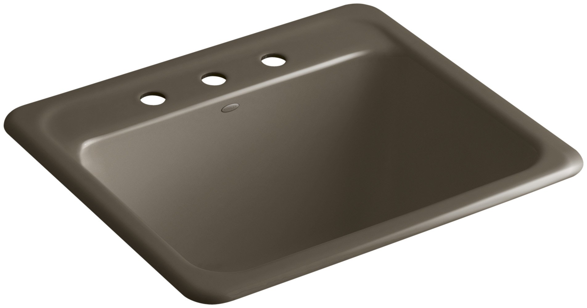 Glen Falls Top-Mount/Undermount Utility Sink with Three Faucet Holes, Suede by Kohler