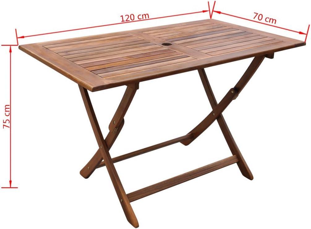 Mesas de jardin plegables