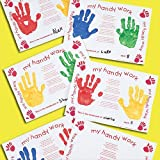 Baker Ross Handprint Card Place Mats Pre-Printed with a Poem, for Children to Personalise as Gifts (Pack of 10)