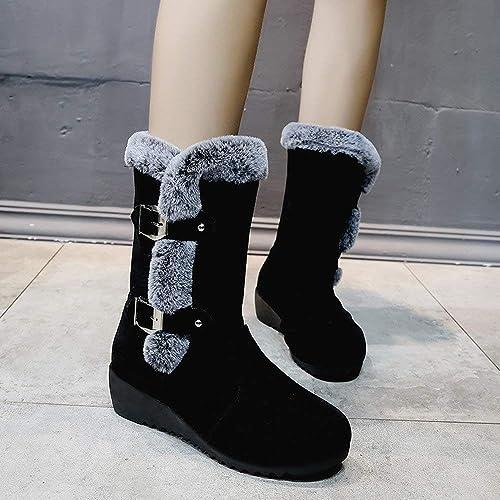 Polp Botas Zapatos Senora Invierno Botas Botines Y Botas Altas Mujer Ademas De Terciopelo Mantener Caliente Impermeable Antideslizante Zapatos De Algodon Botas De Nieve Botas Comodas Amazon Es Zapatos Y Complementos