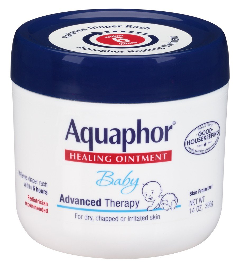 Aquaphor Baby Advanced Therapy Healing Ointment Skin Protectant 14 Ounce Jar Eucerin KC001274-3