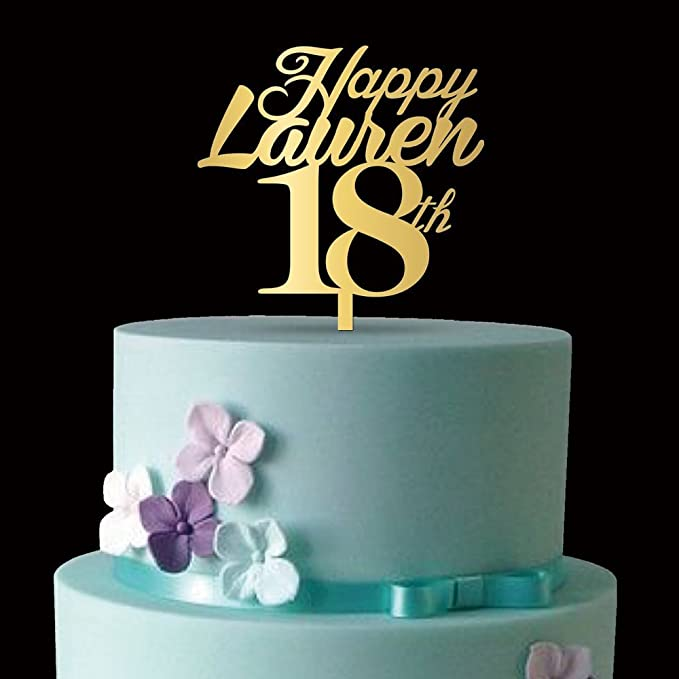 Decoración para tarta de cumpleaños con espejo para fiestas ...