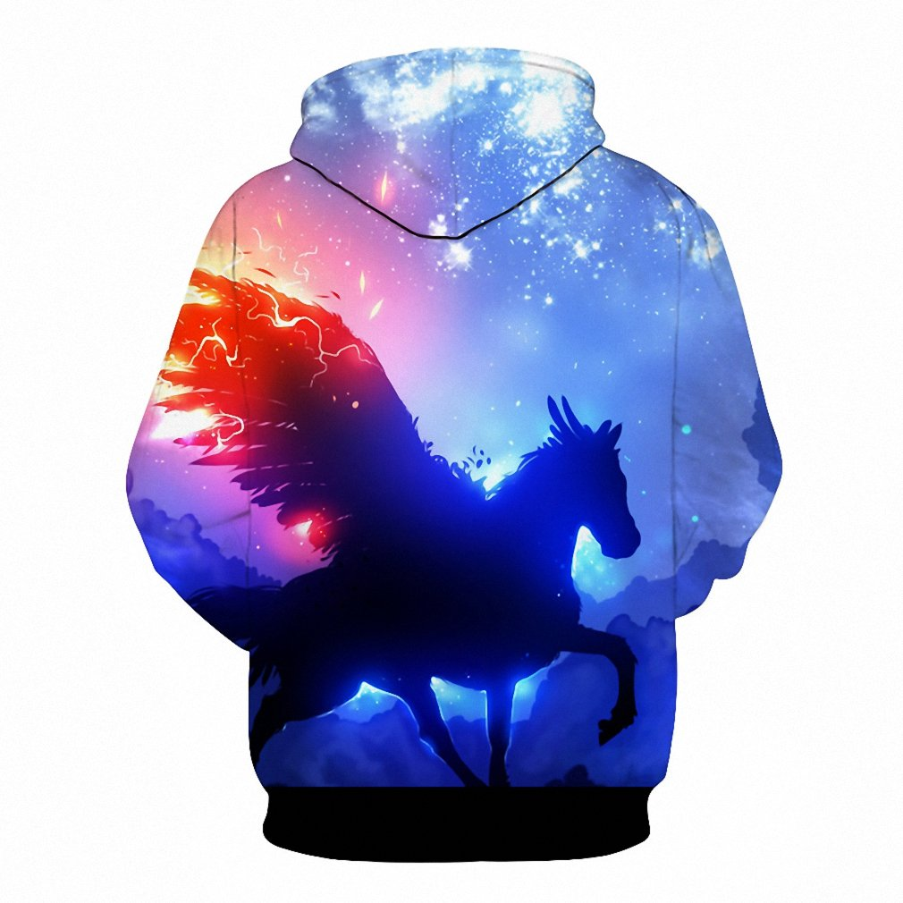 Amazon.com: NEW Fashion Hoodies Men Sudaderas Hombre Hip Hop Mens HoodyTops 3D Print Unicorn Space Galaxy Hooded Sweatshirt Dropship hoodies men XXXL: ...