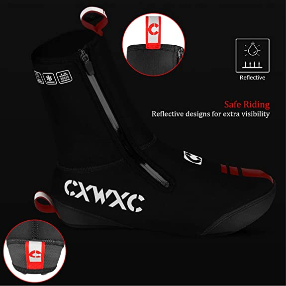 clarifylay Waterproof Cycling Shoes Covers Reusable Thermal Shoes Covers MTB Road Bicycle Bike Racing Overshoes Footwear Thicken Sole /& High Reflective Winter for Men Women Cycling Motorcycle clever