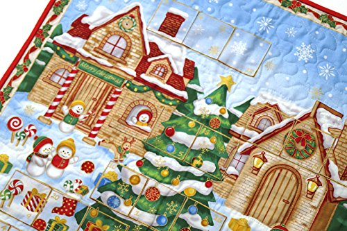 Quilted Christmas Advent Calendar Wall Hanging Christmas Patchwork Wall Hangings