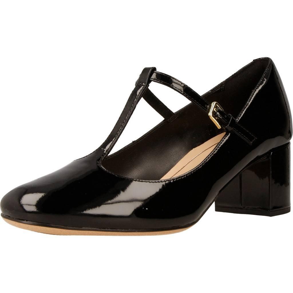 Clarks Zapato de Corte de Orabella Helecho Mujer T 38 EU|Negro Patente