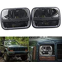 Pair square 5''x 7'' Inch Daymaker led headlight High Low Beam Headlamp for jeep Wrangler YJ Cherokee XJ Trucks 4X4 Offroad