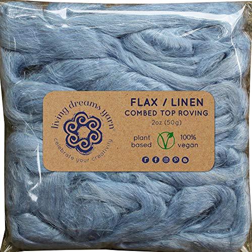 - Flax Fiber for Spinning, Blending, Felting & Fiber Arts. Natural Vegan Combed Top. Glacier