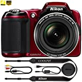 Digital Cameras Best Deals - Nikon COOLPIX L810 16.1 MP 3.0-inch LCD Digital Camera - Red - (Certified Refiurbished)