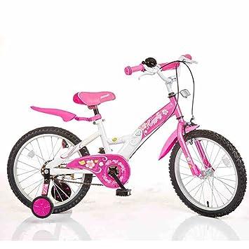 XQ- Bicicletas Para Niños 18 Pulgadas Chico Chica Bicicleta Bebé Bicicleta 4-6 Años De Edad Cochecito De Bebé (Color : Pink) : Amazon.es: Hogar