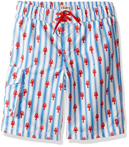 Hatley Little Boys' Board Shorts, Lobsters, 3 Years