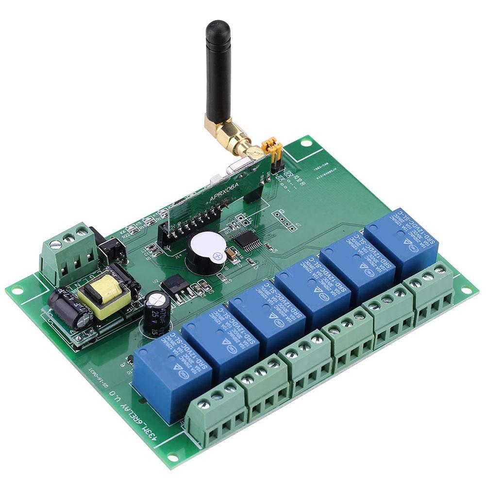 RF Relay Switch 110-240V 6 Channel RF Relay Module Board Remote Control Switch