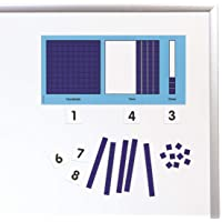 Didax 211588 Educational Resources Magnetic Base Ten Place Value Set, 9.5x18x.13 in, blue