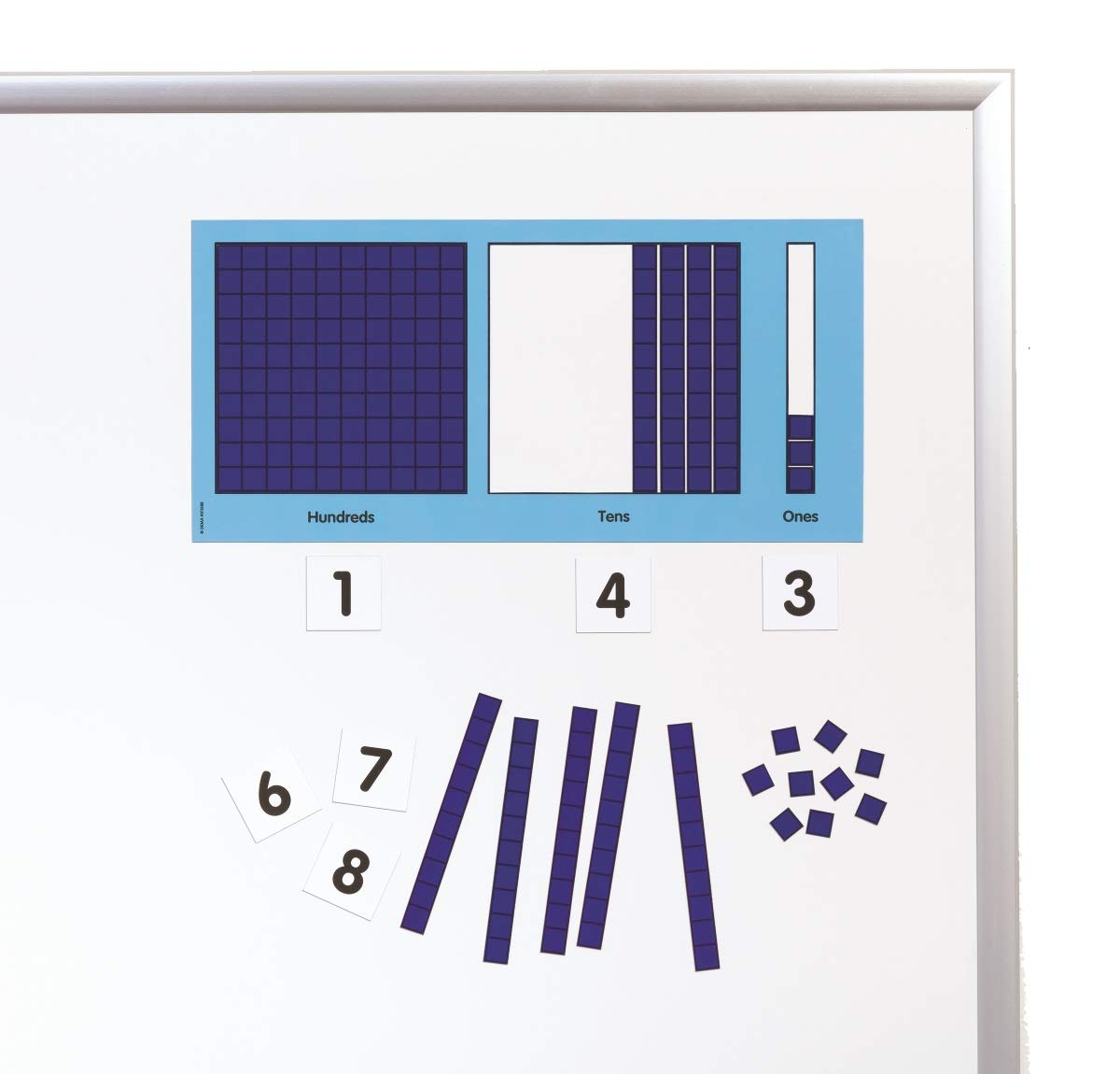 Didax Educational Resources Magnetic Base Ten Place Value Set