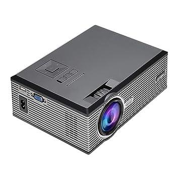 Mini proyector portátil, 1080P Full HD 1500 lúmenes LED proyector ...