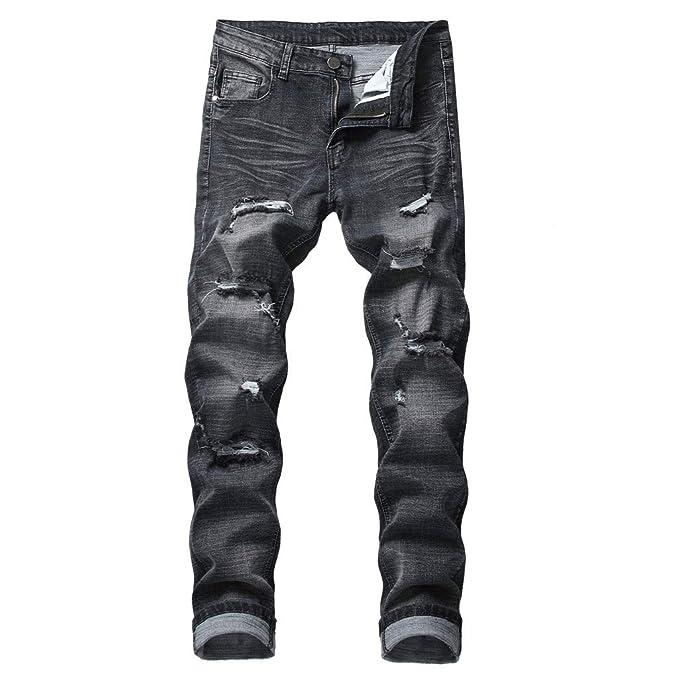 Amazon.com: Mens Jeans Pants Long Cotton Printed Vintage ...
