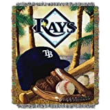 """Tampa Bay Devil Rays MLB Woven Tapestry Throw (Home Field Advantage) (48x60"""")"""""""