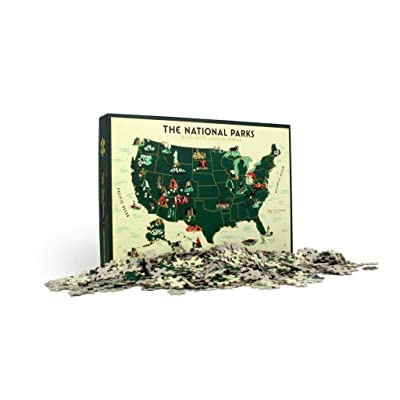 U.S. National Parks Map 1000 Pc Puzzle: Toys & Games