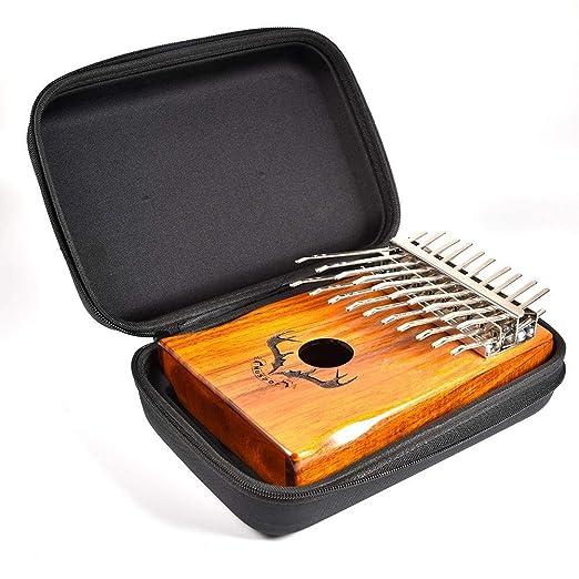 Estuche port/átil para piano de pulgar Mbira 10//15//17//20 teclas Kalimba Estuche resistente al agua