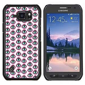 Dragon Case - FOR Samsung Galaxy S6 active/G870A/G890A (Not Fit S6) - The world is pink - Caja protectora de pl??stico duro de la cubierta Dise?¡Ào Slim Fit
