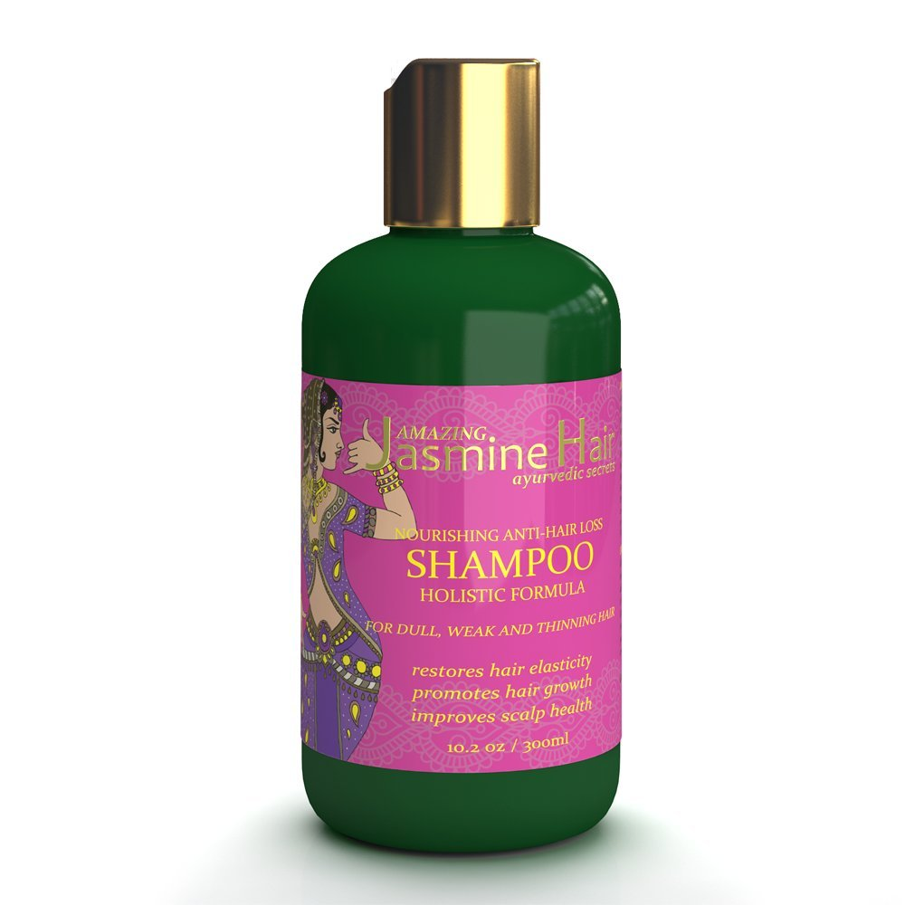 Amazing Jasmine Hair Nourishing Holistic Anti-Hair Loss Shampoo 10.2 Oz