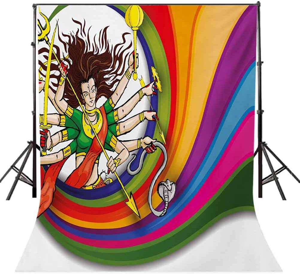 10x15 FT Photography Backdrop Figure Vibrant Swirled Rainbow Circle Snake and Auspicious Cultural Illustration Background for Child Baby Shower Photo Vinyl Studio Prop Photobooth Photoshoot