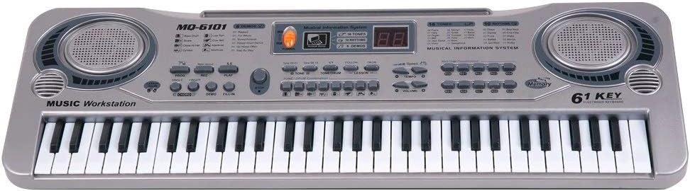 MU Los Niños Juguete Musical Portátil de 61 Teclas de Piano ...