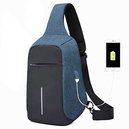ba515e562f6e Image Unavailable. Image not available for. Color  XY CF Messenger bag  anti-theft chest bag shoulder burglar backpack outdoor sling ...