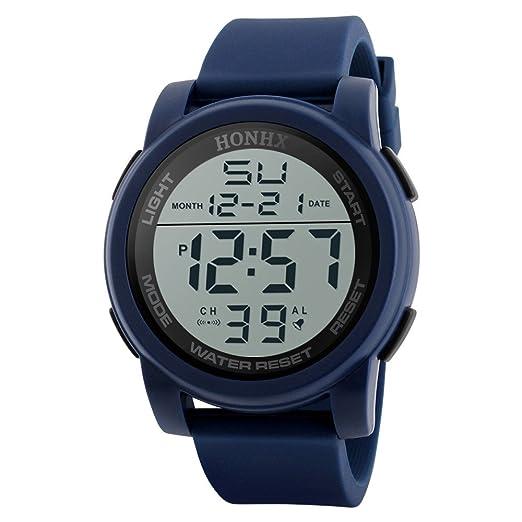 Cebbay Reloj LED Deportivo para Hombre Negocios y Deportes de Ocio.Reloj Militar a Prueba