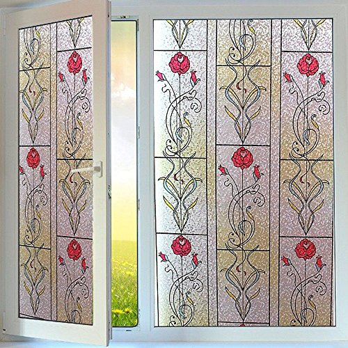 Static Cling Privacy Decorative Window Films 35.4