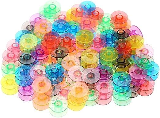 Matefielduk Canillas Máquina Coser,Canillas de Plástico Canillas Vacías Máquina Coser Universal 100pcs Colores para Máquina de Coser: Amazon.es: Hogar