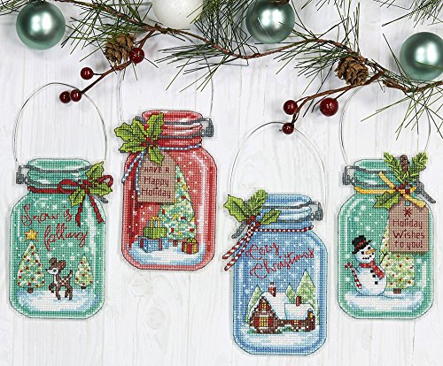 Dimensions Needlecrafts Christmas Ornament Set, Counted Cross Stitch ()