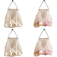 Pineker Onion Storage Bag, Hanging Vegetable Bags for Kitchen, Storage Mesh Bags for Onion, Garlic and Other Small Items
