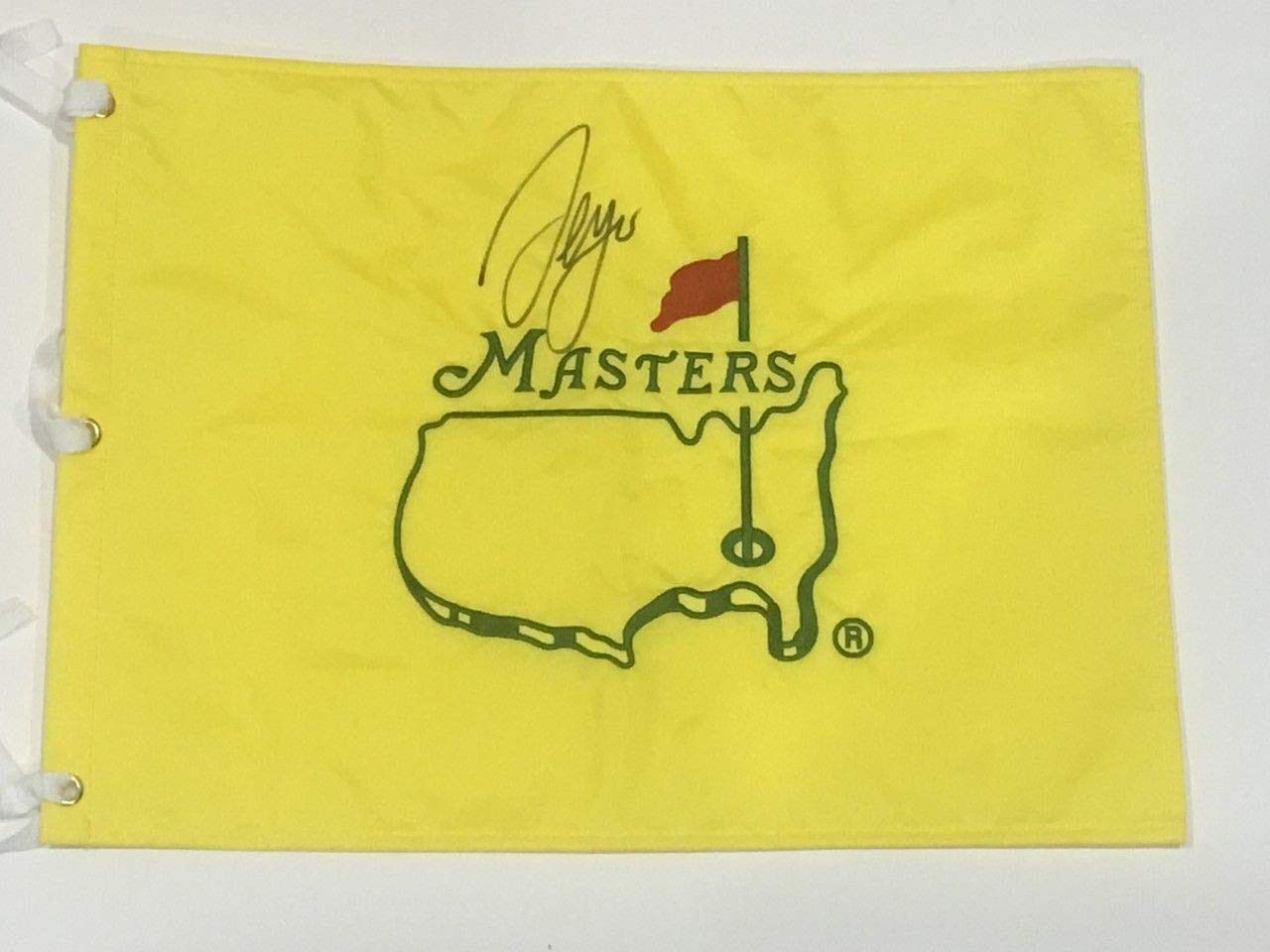Sergio Garcia Autographed Signed Undated Masters Flag 2017 Champion Very Rare JSA Authentic