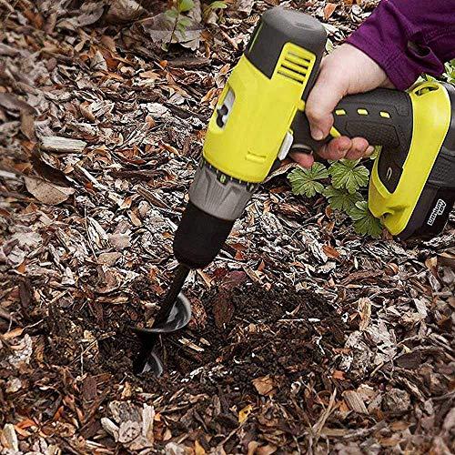 SETROVIC Garden Auger Drill Bit, 3