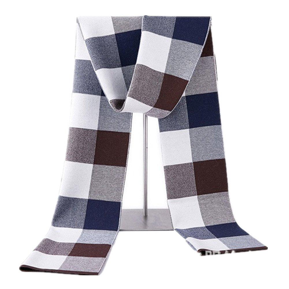 Kagogo Men Cashmere Wool Scarf Winter Warm Business British Plaid Scarves