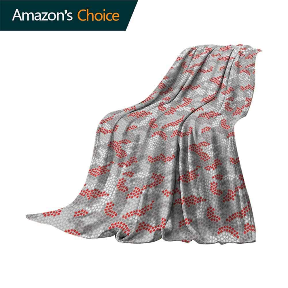 Abstract Gravity Blanket,Stars in Many Colors Surreal Space Theme Pale Tone Universe Illustration All Seasons Anti-Static Couch Blanket Travelling Camping Blanket,W62 X L60 Inch Grey Vermilion White