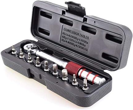 N/A Llave dinamométrica 1/4 Pulgada Dr 2-15Nm Mini Juego de ...