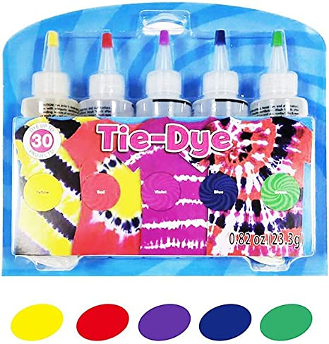 Sue-Supply Kit Tie-Dye - 5 Colores Kit Tie-Dye Tintes De Ropa De Algodón, Kit De Tinte DIY Fashion