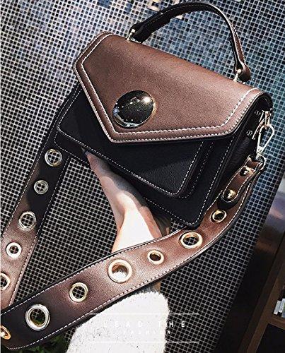 Les Larges Toutes Sacs Bag Black PU Couleur pour KING Hit Saisons Pink À Couture Bandoulière Messenger Bretelles MIMI Cuir Sacs Femmes Zw755q6