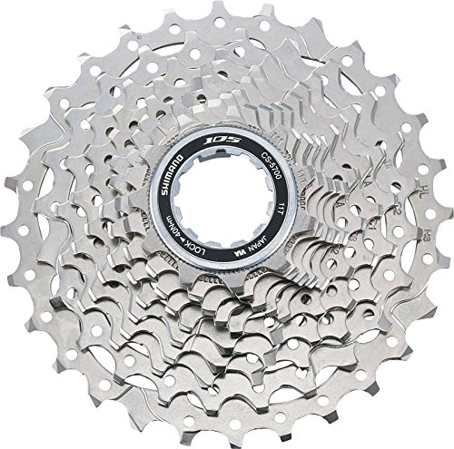 (SHIMANO cassette 105 10 speed silver (Design: 11-28 sprockets))
