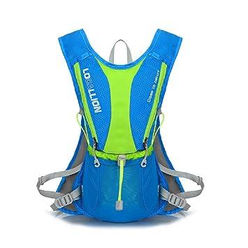 XiZi outdoors mochilas Trail maratonista carrera chaleco hidratación Pack mochila de hidratacion con 2 botellas de agua azul: Amazon.es: Deportes y aire ...