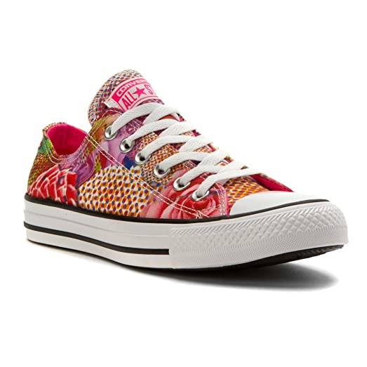 Converse Chuck Taylor All Star Lo Top Digital Floral White/Neon Pink Womens  11