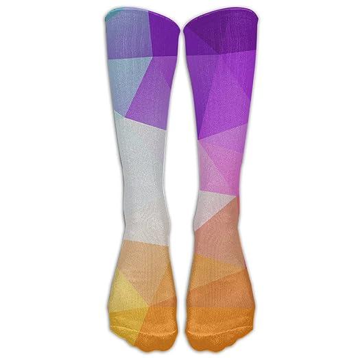 c661bcdd9fec Purple Geometry Men s Sports Athletic Football Soccer Socks Knee High Socks