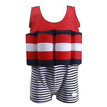 geolify Cute y moda niños bañador de flotador de flotabilidad de una sola pieza traje de bano desmontable perfecto para niños aprender a nadar, ...